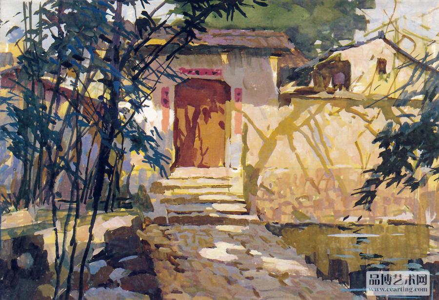 水粉风景欣赏一 - 色彩 - 美术教育 - 品博艺术网