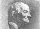 优秀石膏素描欣赏――伏尔泰