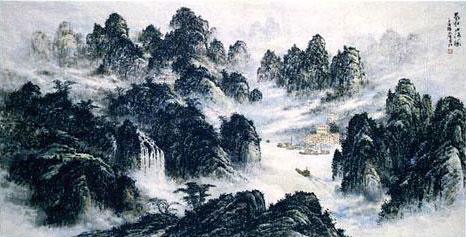 陈清泉巨幅国画 气壮山河 走进人民大会堂