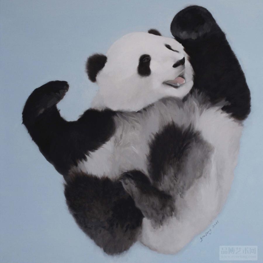 《小熊猫》 100×80cm 油画