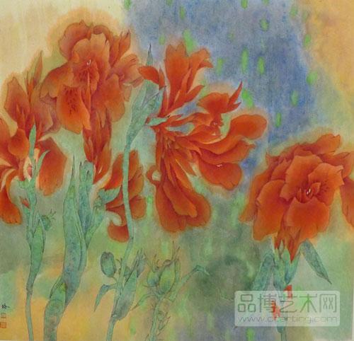 为花写照:评傅春梅工笔花卉